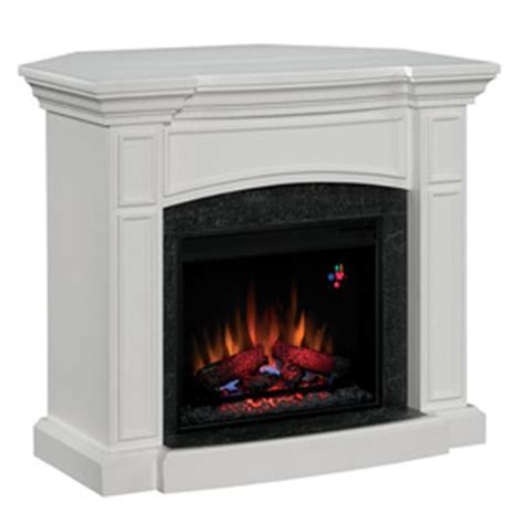 electric corner fireplace white shop chimney free 44 in white corner electric fireplace at