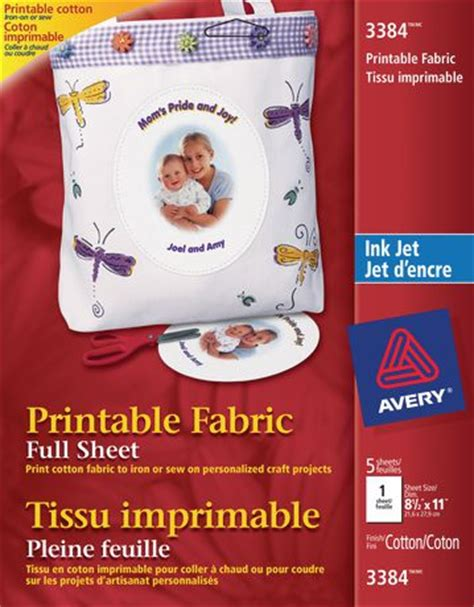 avery printable fabric for inkjet printers avery full sheet printable fabric for inkjet printers