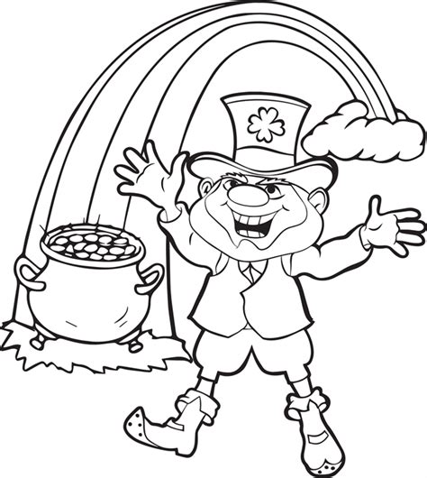 Leprechaun Coloring Pages Dr Odd Leprechaun Coloring Page