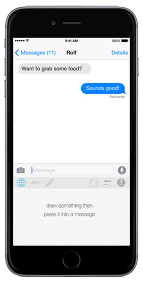 doodle text draw photo sms an ios 8 keyboard app that lets you draw your texts wired