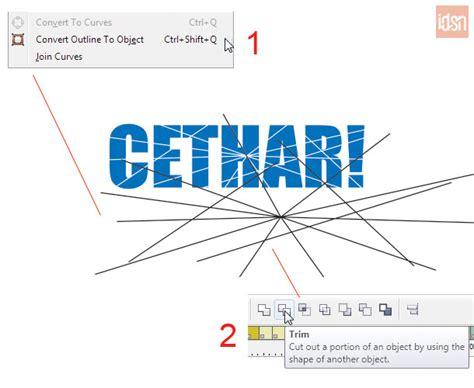 langkah membuat abstraksi teks anekdot tutorial membuat efek teks pecah di coreldraw idesainesia