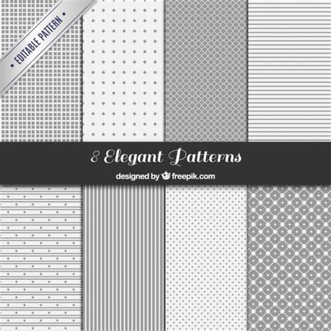 Geometric Pattern Freepik | gray geometric patterns collection vector free download