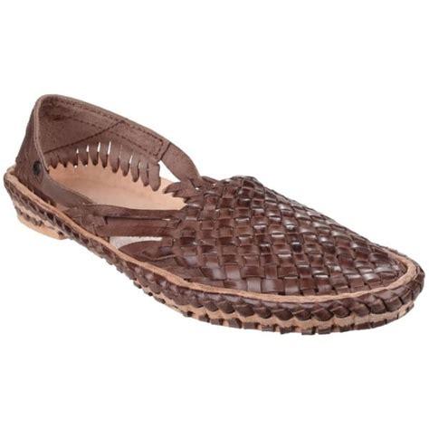 aztec sandals base aztec weave s brown sandals free returns