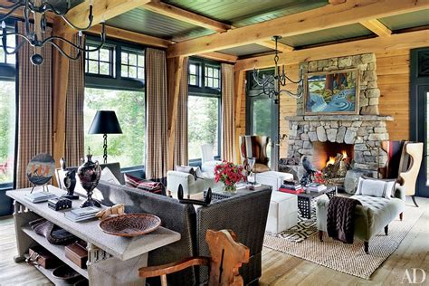 thom felicia upstate new york lake house lake big rock boathouse interiors by color