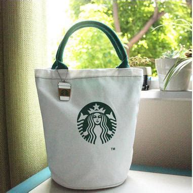 Tote Bag Kanvas Starbucks large starbucks canvas tote bag handbag barrel shape