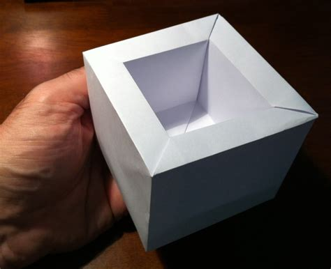 Masu Box Origami - 360 masu setting the crease