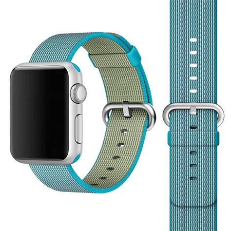light blue apple watch band apple watch 42mm woven nylon band strap light blue