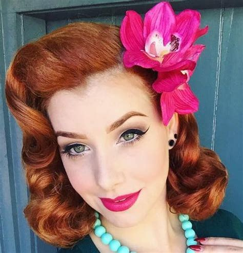 Pin Up Hairstyles by 40 Pin Up Hairstyles For The Vintage Loving