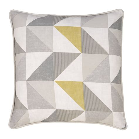 Splash Home Decor by Delta Grey Amp Yellow Luxury Filled Square Cushion Julian