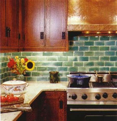 green subway tile backsplash flickr photo