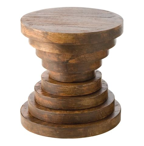 Wood Accent Table Modern Rustic Large Chunky Wood End Accent Table B Kathy Kuo Home