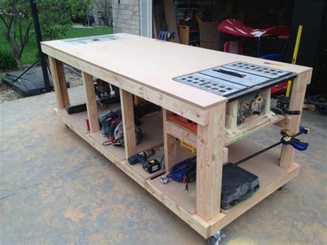 building   wooden workbench work surface