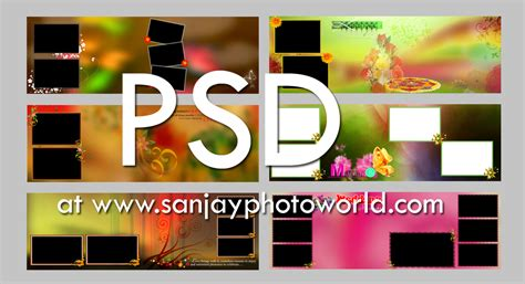 Wedding Photo Album Design Templates Adobe Photoshop by Sanjay Photo World Psd Karizma Wedding Album Designs Vol 08