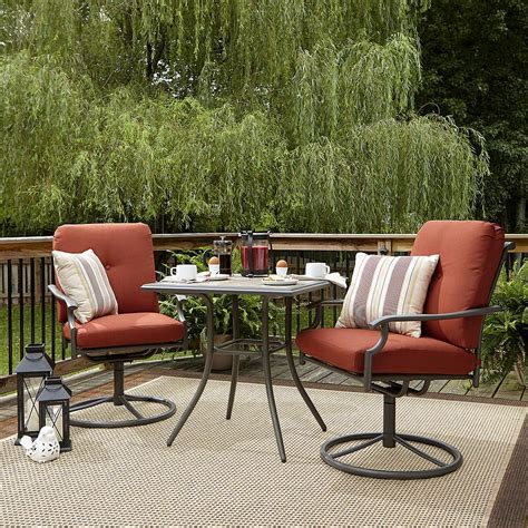 outdoor living furniture sets garden oasis brookston 3 bistro set terracotta