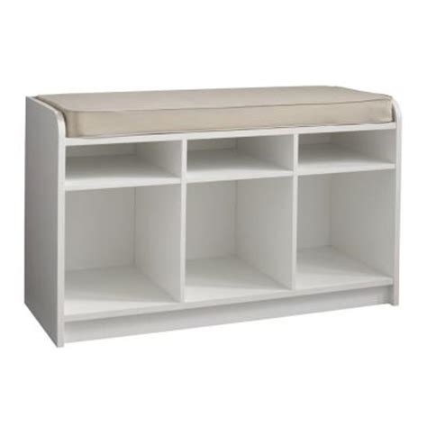 White Storage Bench Seat Martha Stewart Living 35 In X 21 In White Storage Bench