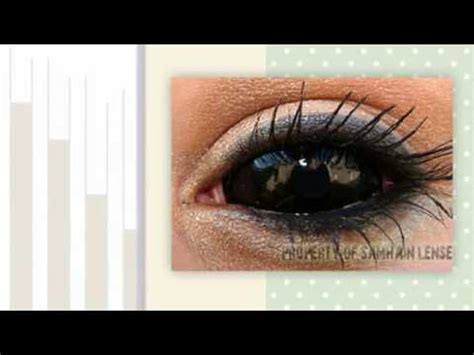 black sclera full eye colored contact lenses youtube