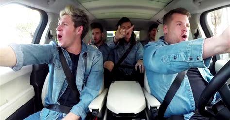 Carpool Karaoke One Direction Corden Sing In Carpool Karaoke