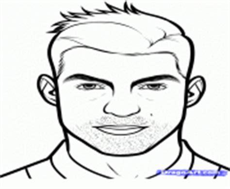 dessin de foot de ronaldo coloriage cristiano ronaldo foot dessin