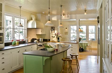 Cottage Kitchen Lighting Cottage Kitchen Lighting Kitchen Style With White Cabinets Ceiling Lighting Green Island