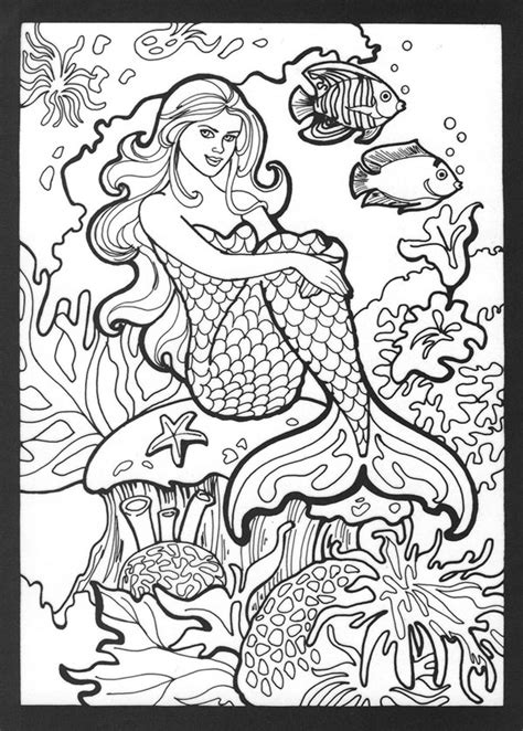 free coloring pages of h2o mermaid