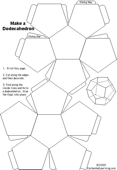 Dodecahedron Template Large Related Keywords - image gallery make dodecahedron
