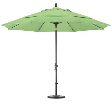 Umbrellas For Patios Galtech 11 Auto Tilt Patio Umbrella W L E D Lights