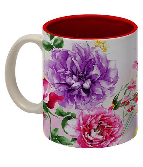 flower design mugs tangerine floral design mug buy online at best price in