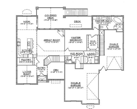 traditional open rambler home plan hwbdo74756