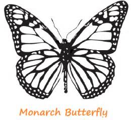 Monarch Butterfly Outline by Monarch Butterfly Template Cliparts Co