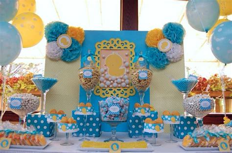 Pudding Hello Orange And Blue Theme duck themed baby shower s buffet we babies and themed baby showers