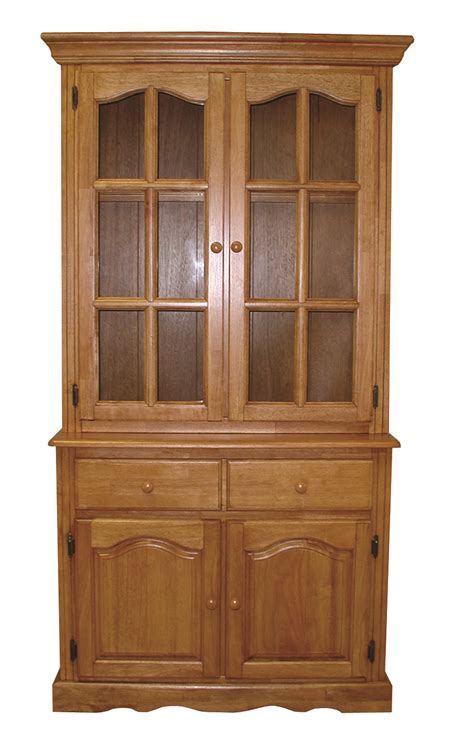 Sunset Trading Keepsake Buffet and Lighted Hutch in Light