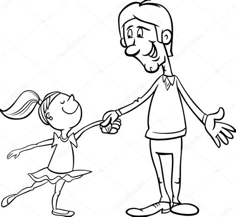 free coloring pages of daddy daughter