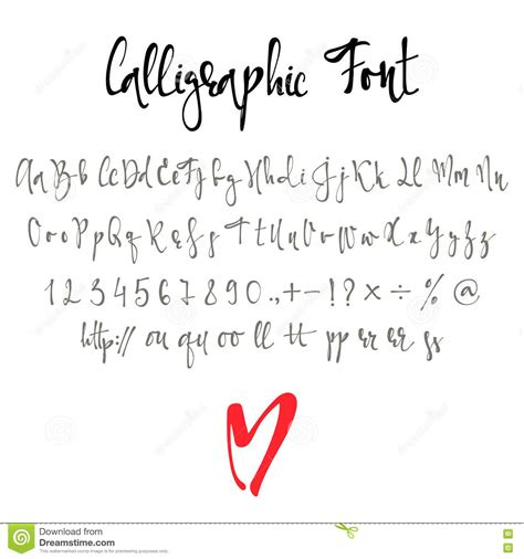 Best Handmade Fonts - calligraphic font with numbers ersand and symbols
