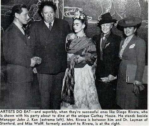 biography frida kahlo and diego rivera diego rivera and frida kahlo in san francisco 1941