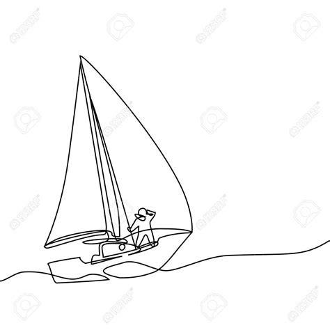 sailboat lines sail boat line drawing at getdrawings free for