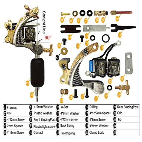 tattoo gun assembly diagram generous appearance 10 wrap coils cast iron shader tattoo