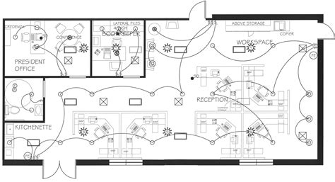 Commercial Lighting Electrical Plan Electrical Layout