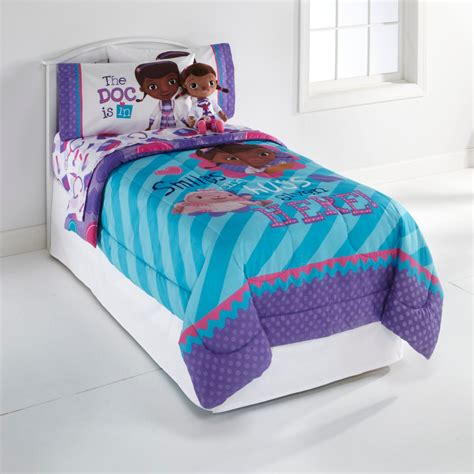 disney doc mcstuffins girl s twin comforter home bed