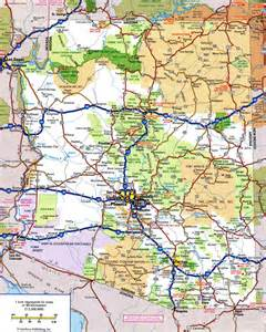 large detailed highways map of arizona state with all
