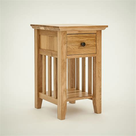 narrow bedside table hereford rustic oak 1 drawer narrow bedside table