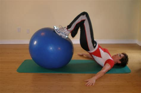 hamstring curl arms  ball exercise