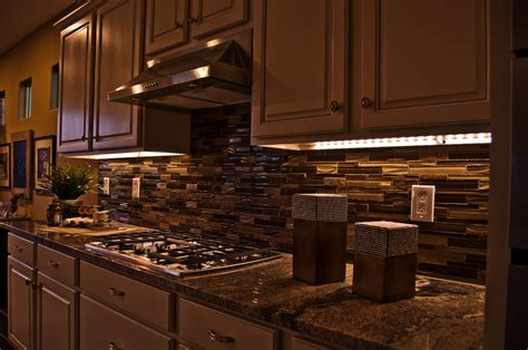 kitchen counter lighting led light design cabinet lighting led home