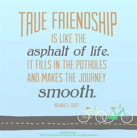 Quotes About And Friendship Lds Friendship Quotes Quotesgram