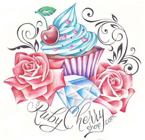 cute cupcake tattoo designs cupcake logo by rubymoondesign on deviantart cup cake