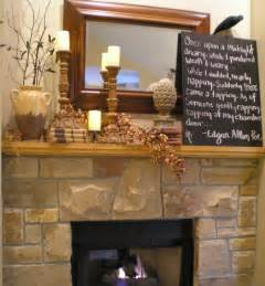 wip autumn mantel decor ideas
