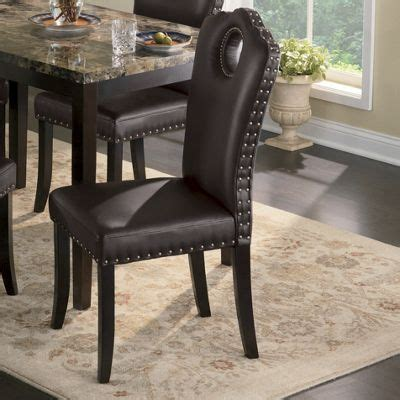 Marble Look Dining Table Marble Look Dining Table And Nailhead Chairs From Seventh Avenue Dw72187
