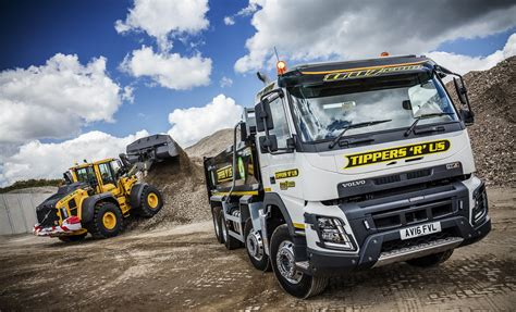 volvo truck of the year volvo fmx 4 tippers r us fleet uk haulier
