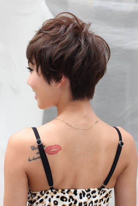 pixie haircuts front and back view of same pixie haircut back view