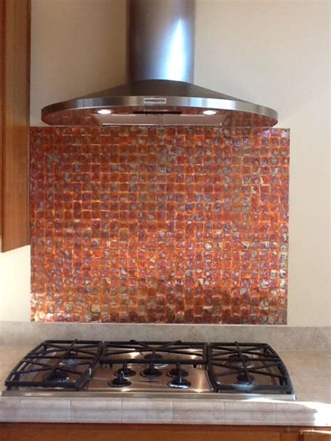 Patina Copper Backsplash by 40 Best Images About Back Splashes On Copper