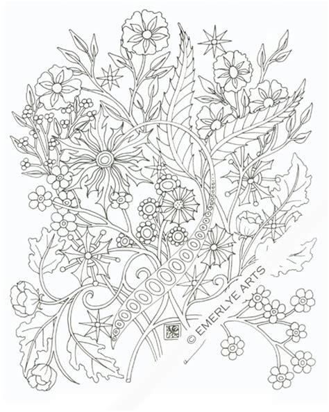 coloring pages of bunch of flowers cynthia emerlye vermont artist and life coach bunch of